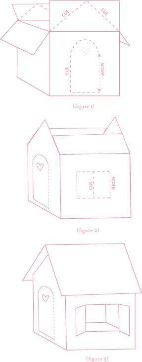 Как сделать домик из картона поэтапно