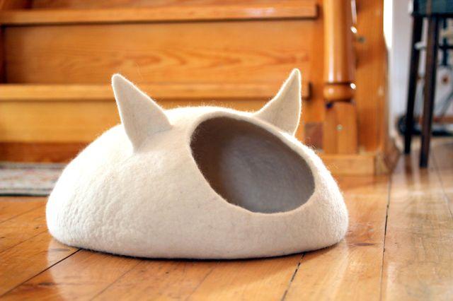 Домик из фетра своими руками для кошек 75