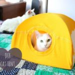 Домик для кошки из футболки