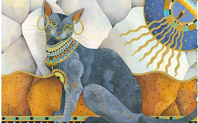 Реставрация рисунка кошки